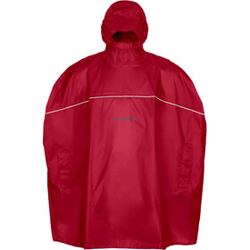 VAUDE Grody Poncho Kinderen, indian red